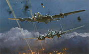 Lancaster Under Attack - by Robert Taylor