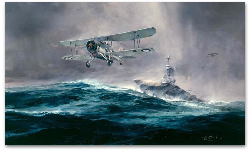 Launch Against the Bismarck - by Robert Taylor