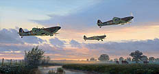 Spitfires at Dawn - by Mark Postlethwaite
