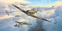 Spitfires Into Battle - by Mark Postlethwaite
