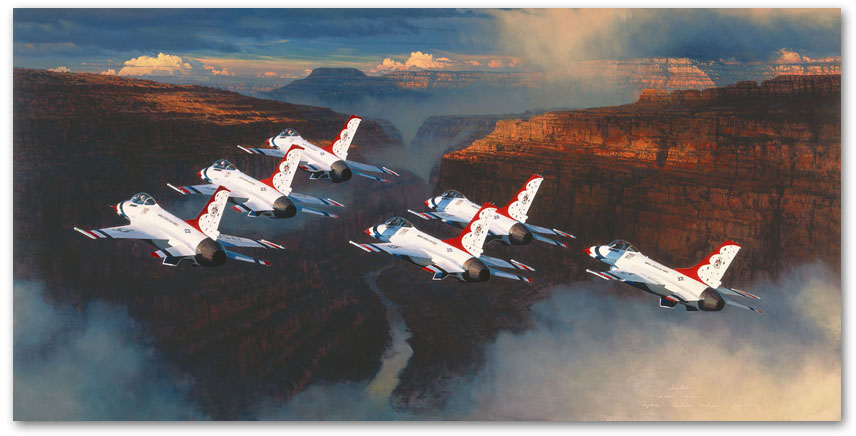 Thunder in the Canyon - by William S Phillips