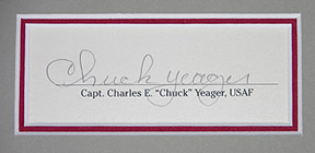 Chuck Yeager signature